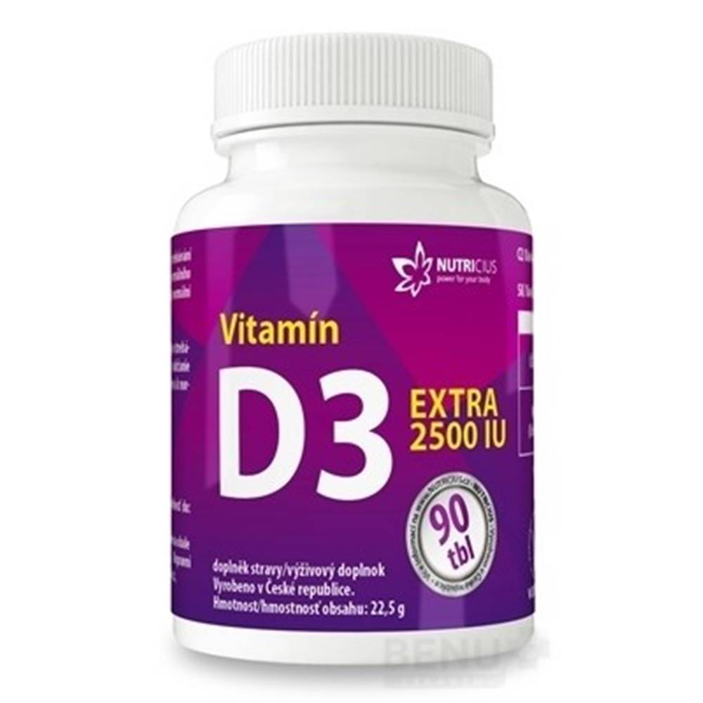 NUTRICIUS s.r.o. NUTRICIUS Vitamín D3 extra 2500 IU 90 tabliet