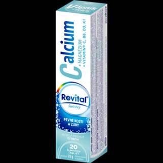 REVITAL Calcium + magnézium + vitamíny C, B6, D3, K1 20 šumivých tabliet