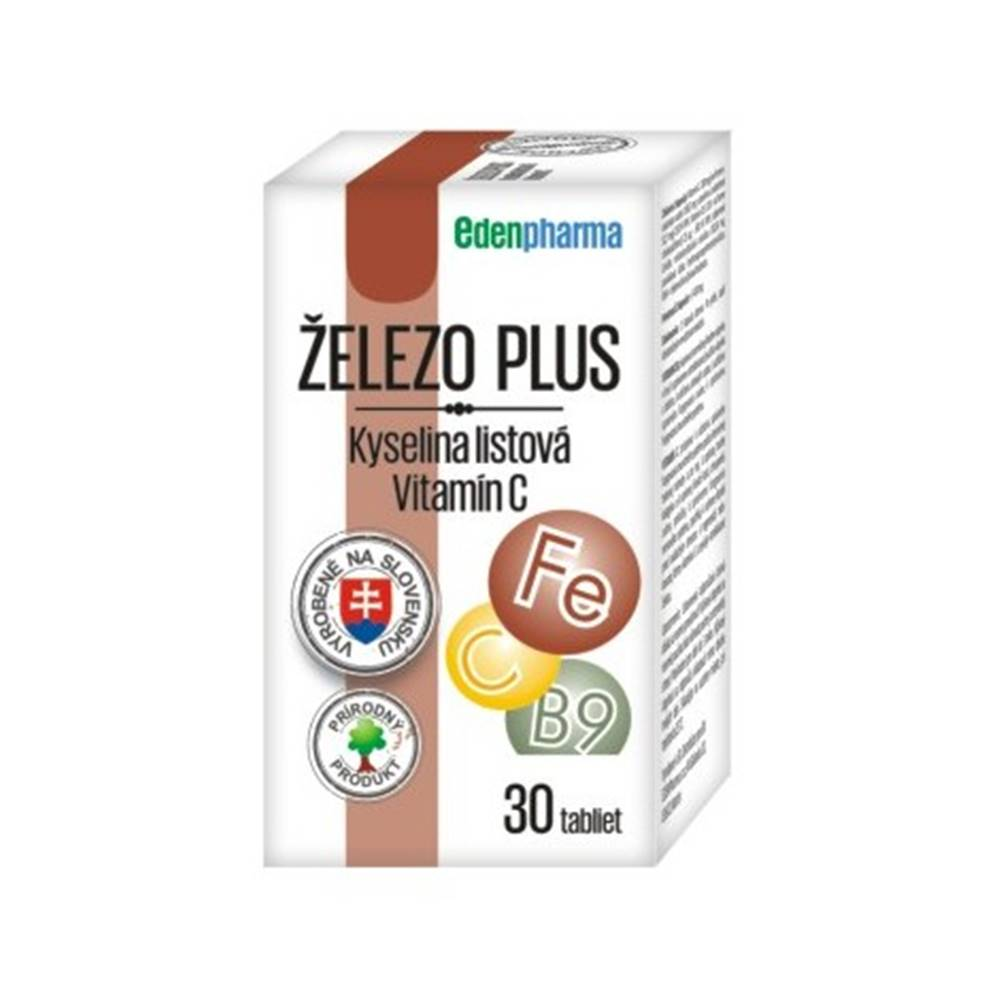 Edenpharma Edenpharma Železo Plus Vitamín C 30tbl