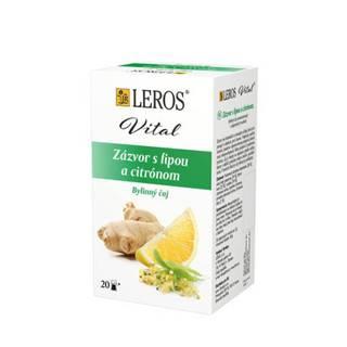 LEROS Zázvor s lipou a citrónom bylinný čaj 20x2 g (40 g)