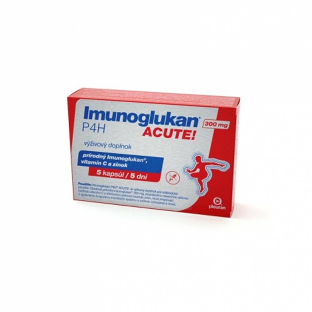 Pleuran Imunoglukan P4H ACUTE 300 mg 5 cps