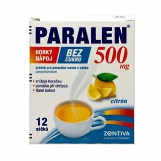 PARALEN horúci nápoj bez cukru 500 mg  vrecúška 12 ks