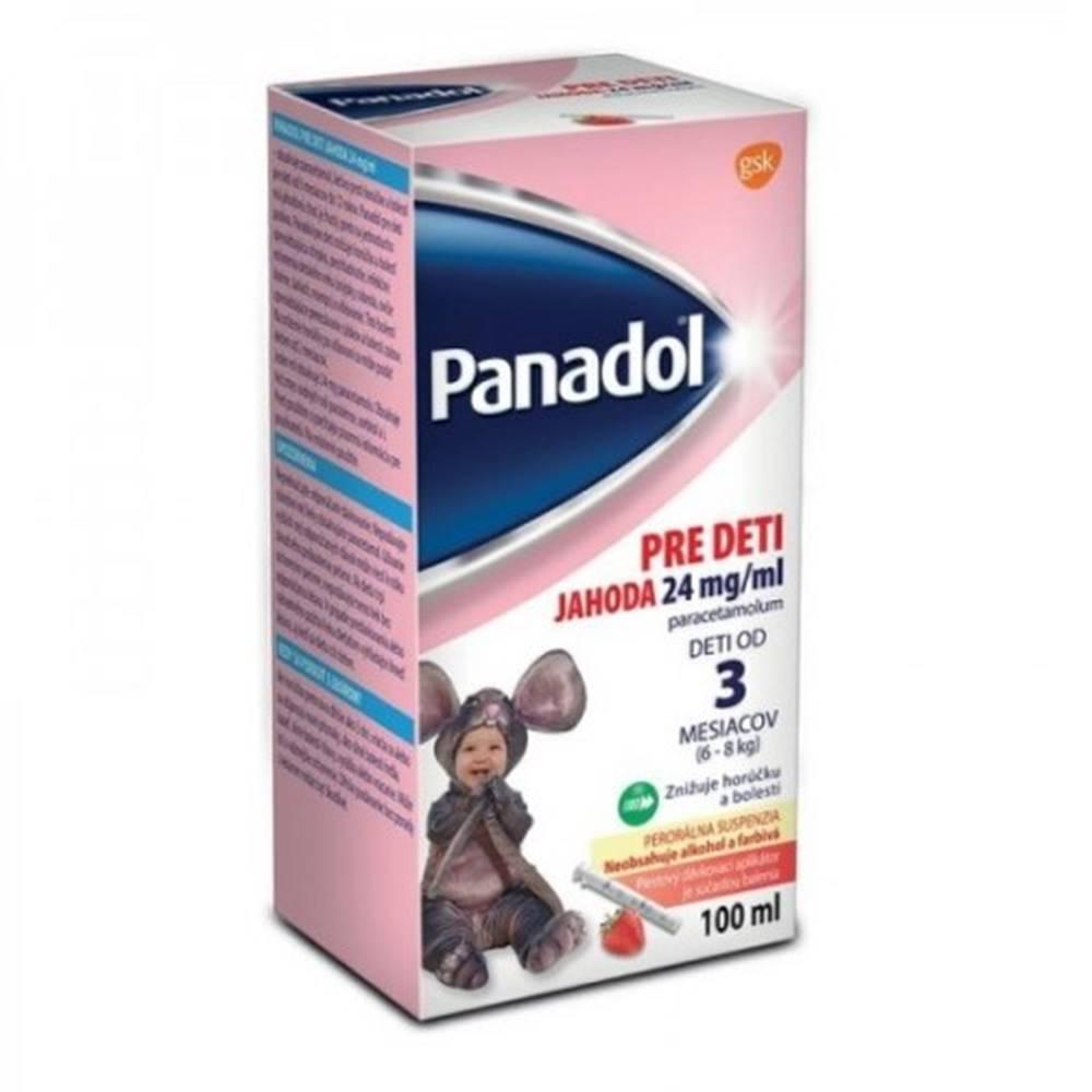 PANADOL PANADOL pre deti s príchuťou jahoda 24 mg/ml 100 ml
