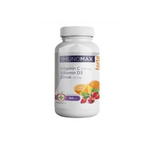 IMUNOMAX Forte Vitamín C+D+Zinok 60 kapsúl