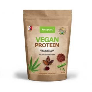 KOMPAVA Vegan protein s príchuťou čokoláda a škorica 525 g