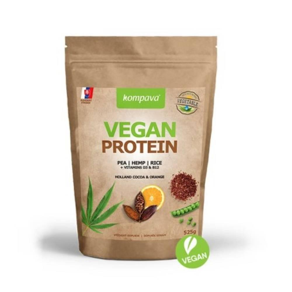 Kompava KOMPAVA Vegan protein s príchuťou čokoláda a pomaranč 525 g