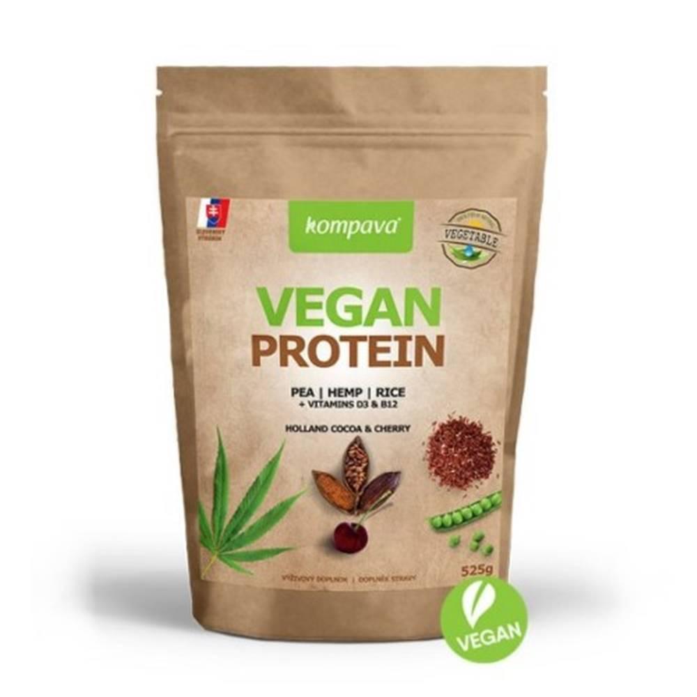 Kompava KOMPAVA Vegan protein s príchuťou čokoláda a višňa 525 g