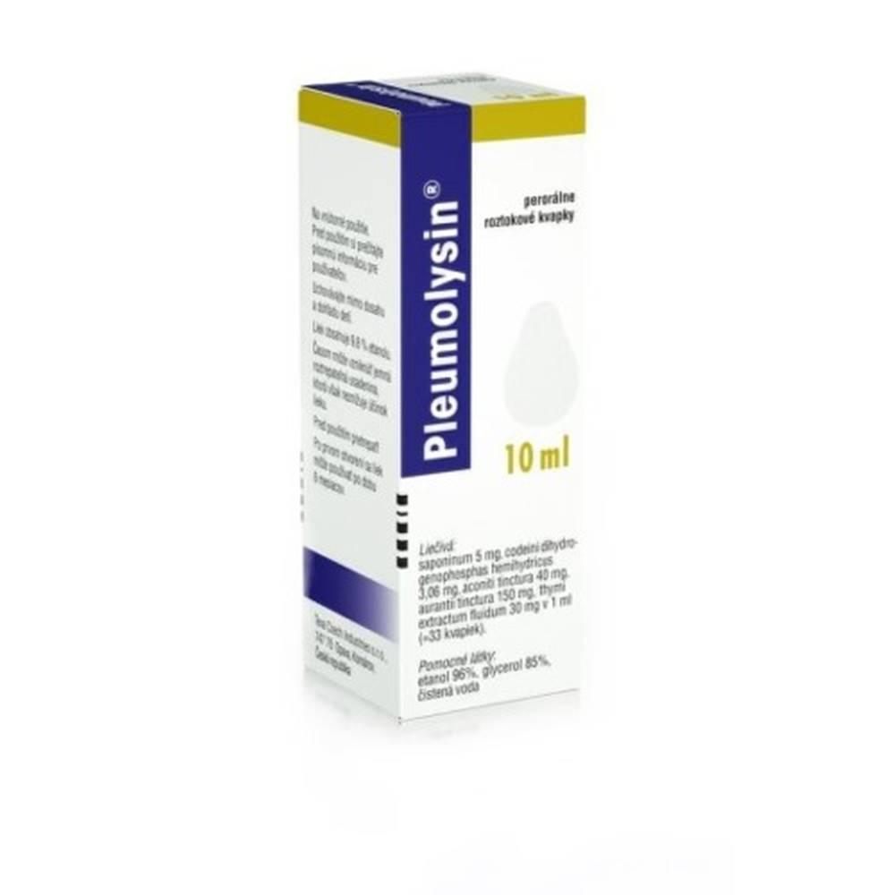 Teva Pharmaceuticals Slovakia PLEUMOLYSIN Kvapky 10 ml