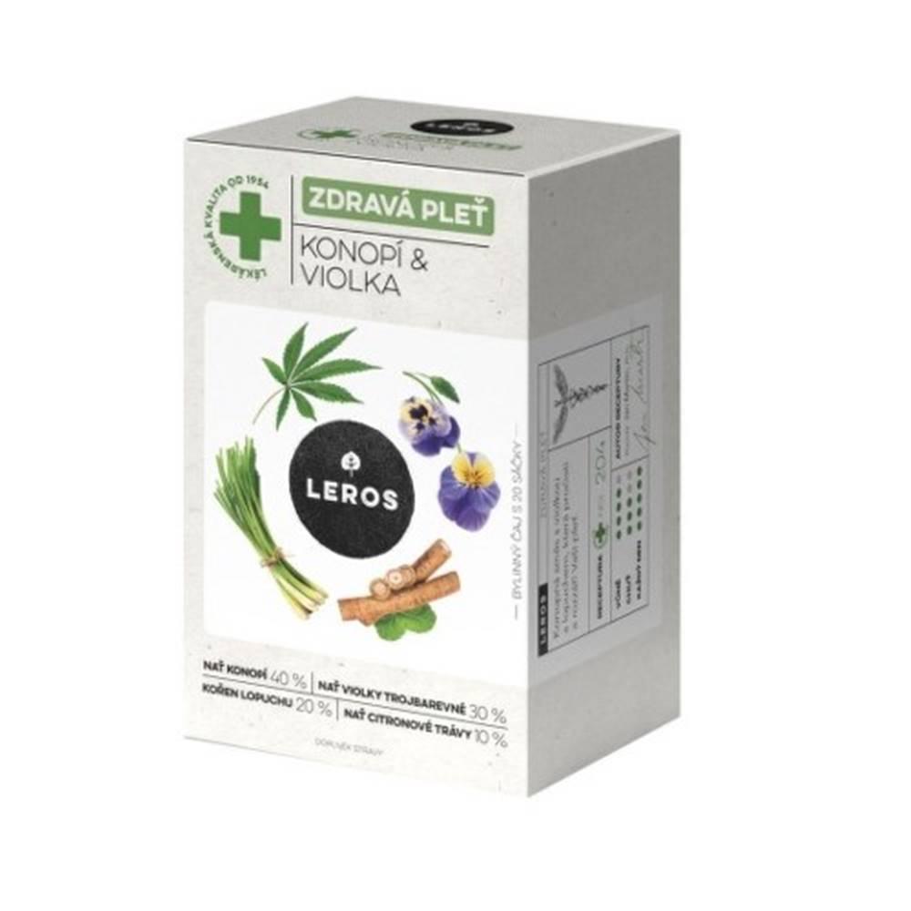 Leros LEROS Čaj zdravá pleť konope a fialka 20 x 1,5 g
